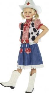 Süsses Cowgirl Kinderkostüm rot-blau
