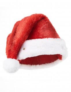Santa Claus leuchtende Mütze für Erwachsene rot-weiß