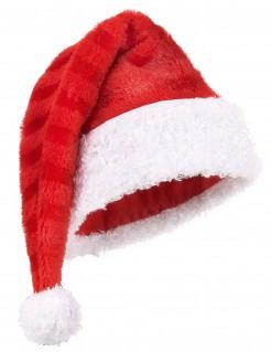 Weihnachtsmann-Mütze gestreift Erwachsene rot-weiß