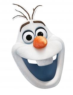 Disney Die Eiskönigin Olaf Maske Lizenzware bunt