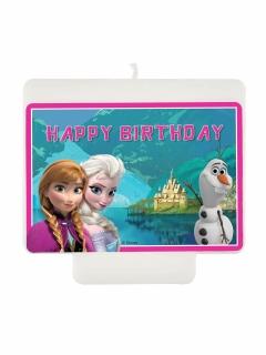 Happy Birthday kerze Die Eiskönigin Lizenzartikel bunt9 x 7 cm
