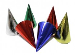 Partyhüte-Accessoire 6 stück bunt 16 cm