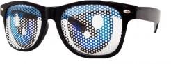 Blaue Party-Augen Brille schwarz-blau