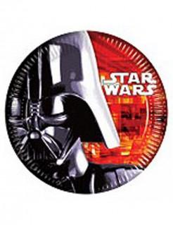 Star Wars Pappteller Darth Vader Party-Deko 8 Stück bunt 23cm
