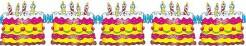 Girlande Geburtstagstorte Geburtstags-Deko bunt 3m