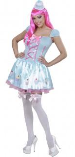 Candy Girl Damenkostüm Cupcake hellblau-rosa