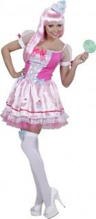 Candy Girl Damenkostüm Cupcake rosa-weiss