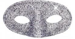 Augenmaske Glitzer für Erwachsene silber