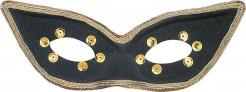 Augenmaske Katze für Erwachsene schwarz-gold