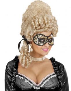 Augenmaske mit Spitze für Erwachsene gold-schwarz