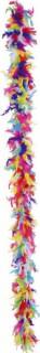 Federboa in Regenbogenfarben
