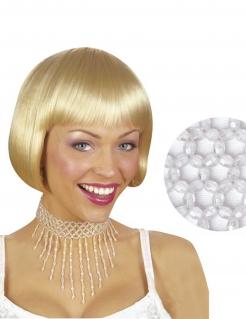 Collier Halskette für Damen weiss