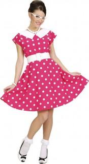 50er Jahre Kostüm pink