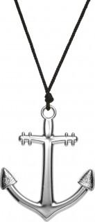 Anker Halskette Matrose schwarz-silber