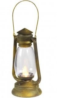 Laterne mit flackerndem Licht gold-transparent 33cm