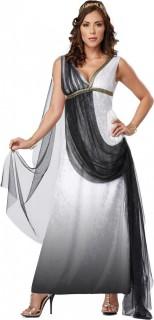Antike Römerin Göttin Damenkostüm schwarz-weiss