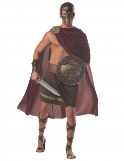 Spartakus Römer Herrenkostüm braun-rot