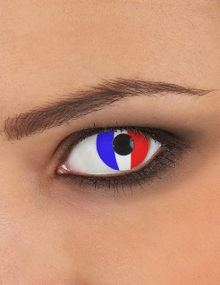 Kontaktlinsen Frankreich blau-weiss-rot