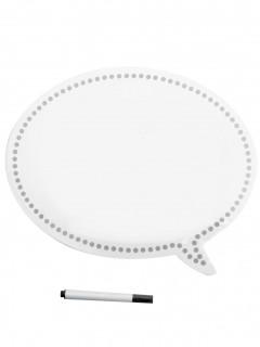 Foto Accessoire Photobooth Tafel mit Stift 2-teilig weiss-grau-schwarz