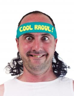 Bad Taste Stirnband mit Haaren Cool Raoul schwarz-blau-gelb