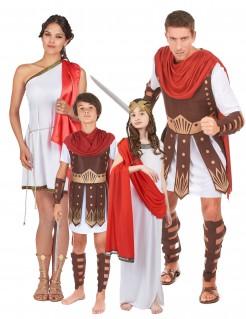 Römer-Familie Karneval braun-rot-weiss
