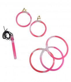 Knicklichter Schmuck Set 5-teilig rosa