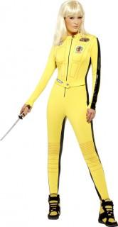Kill Bill Jumpsuit Damenkostüm Lizenzware gelb-schwarz