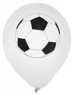 Fussball-Luftballons 8 Stück weiss-schwarz