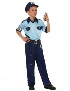 Polizisten-Kostüm für Kinder blau