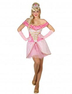 Prinzessinnen-Kostüm Märchenland rosa
