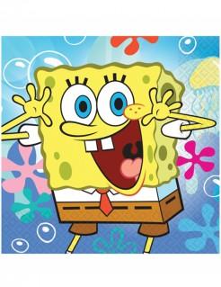 Spongebob Schwammkopf Servietten Party-Deko Lizenzware 20 Stück bunt 33cm
