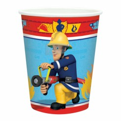 Fireman Sam Pappbecher Party-Deko bunt 8 Stück 266ml