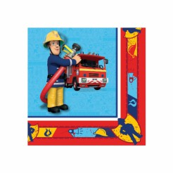 Fireman Sam Servietten Party-Deko 20 Stück bunt 33cm