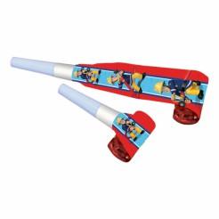 Geburtstags Tröten Lizenzartikel Sam der Feuerwehrmann 8 Stück bunt