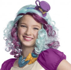 Wunderschöne Madeline Hatter Damenperücke bunt