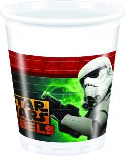 Party Plastikbecher Lizenzartikel Star Wars Rebels 8 Stück bunt
