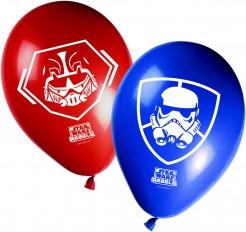 Luftballons Lizenzartikel Star Wars Rebels 8 Stück blau-rot