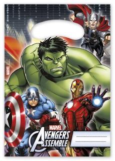 Avengers Party-Tüten Party-Deko 6 Stück bunt 17x26cm
