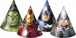 Avengers Party-Hüte Party-Deko 6 Stück bunt 17cm
