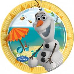 Disney Frozen Pappteller Kinderparty-Deko 8 Stück bunt 20cm