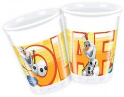 Party Plastikbecher Lizenzartikel Die Eiskönigin Olaf 8 Stück bunt 200ml