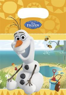 Frozen™ Olaf-Partytüten 6 Stück bunt 17x23cm