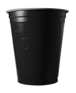 Party Plastikbecher 20 Stück schwarz 530ml