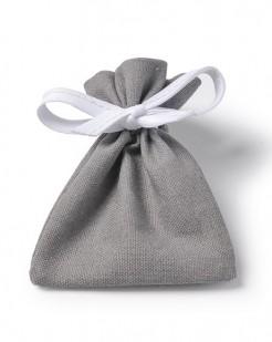 Baumwoll-Geschenkbeutel Partydeko 6 Stück grau