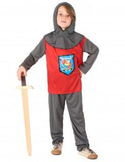 Ritter Kinder Kostüm grau-rot