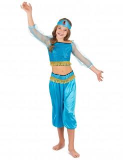 Orientalische Bauchtänzerin Kinder-Kostüm türkis-gold
