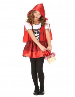 Rotkäppchen-Mädchenkostüm Märchen rot-schwarz