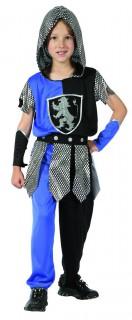Ritter Kinderkostüm blau-silber-schwarz