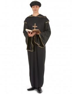 Ehrenvoller Mönch Herrenkostüm schwarz-gold