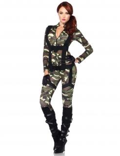 Fallschirmjägerin Soldatin Damenkostüm camouflage